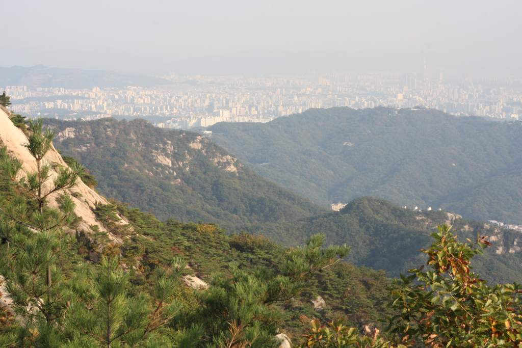 View from Mt Bukhansan