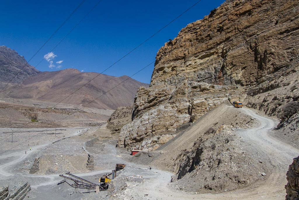 The road from Kagbeni to Jomsom