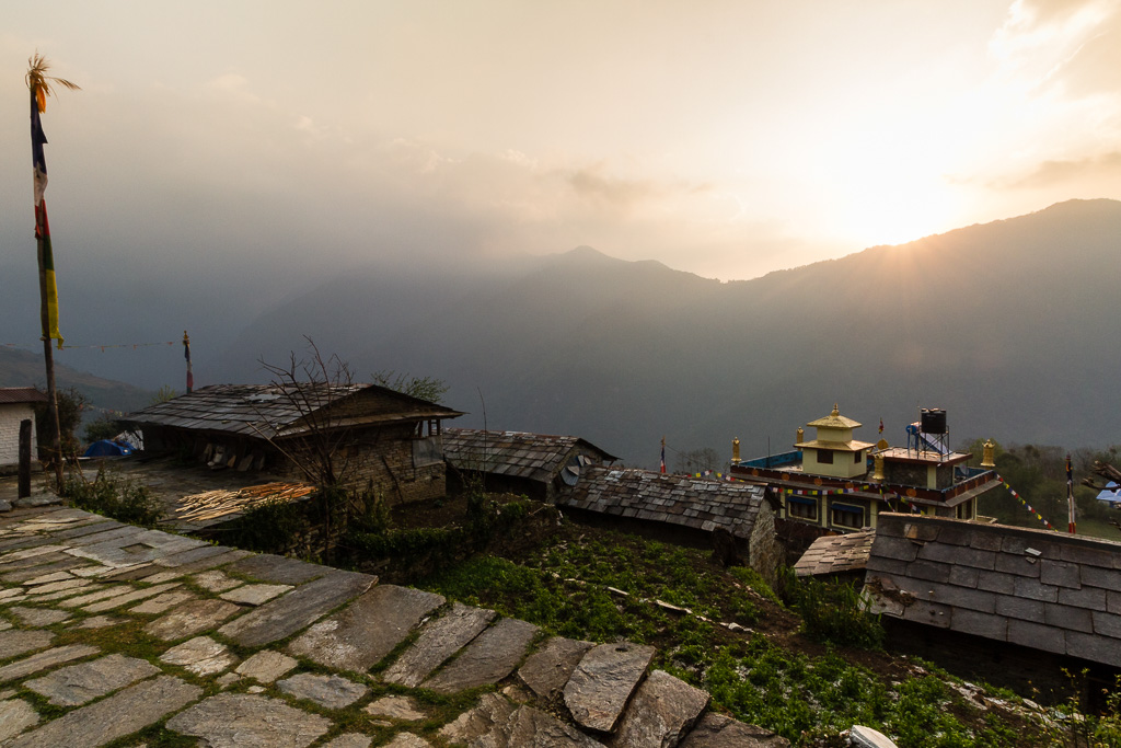 The last sunrise at Ghandruk